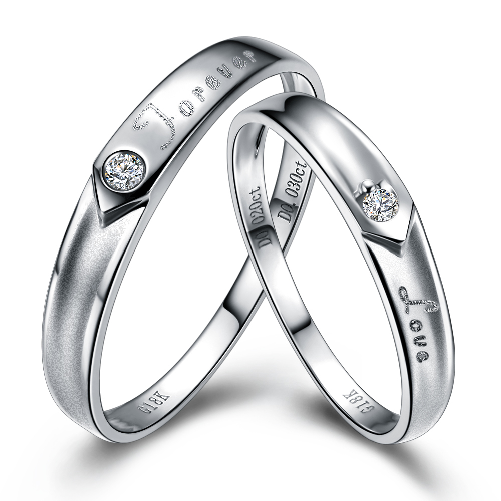 sterling silver products evermarker lettering couple twisted rings opening wedding